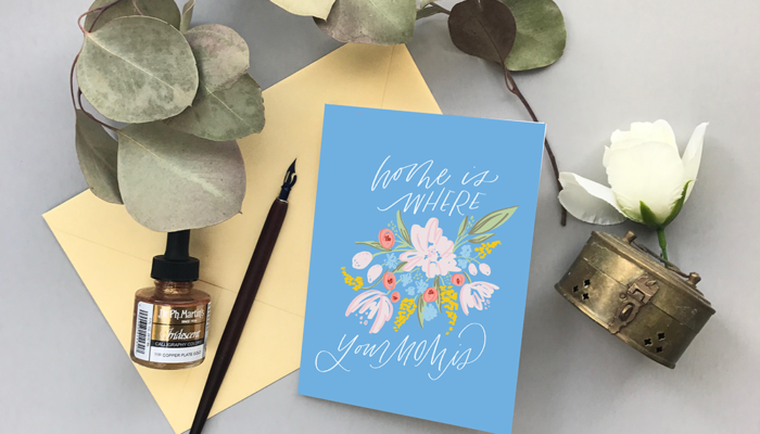 Mothers Day Card – Home Is Where Mom Is