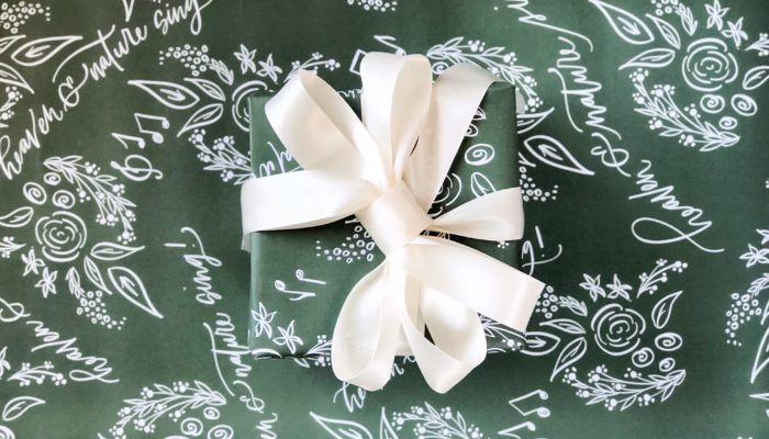 heaven and nature sing wrapping paper